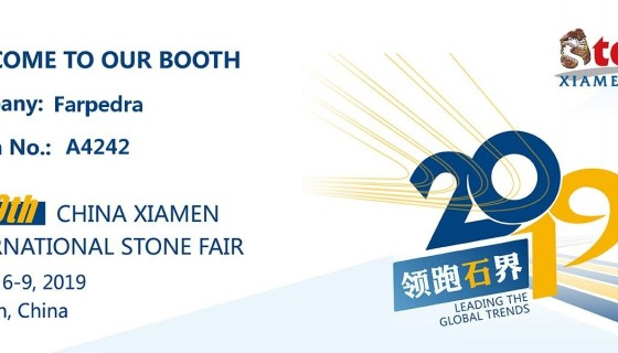 Visit us at the Xiamen International Stone Fair 2019
